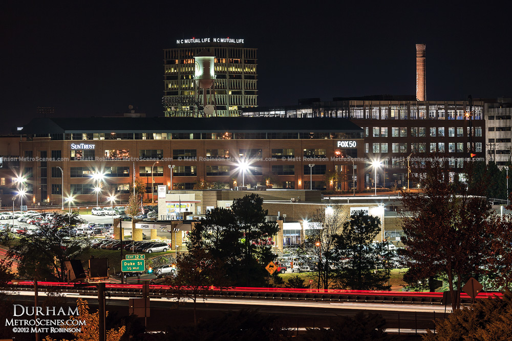 Durham NC at night