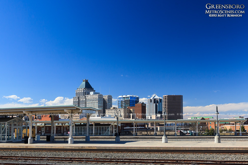 Blue Skies over downtown Greensboro, NC