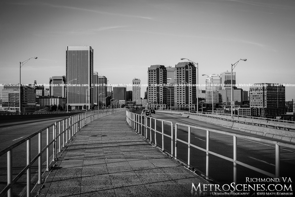 Downtown Richmond Black and White