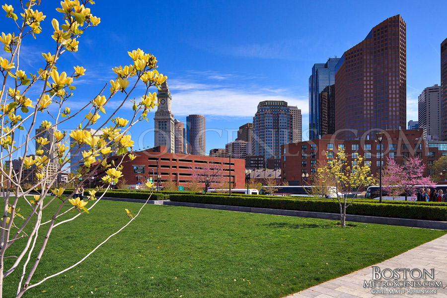 Boston in the Spring at the Big Dig Park