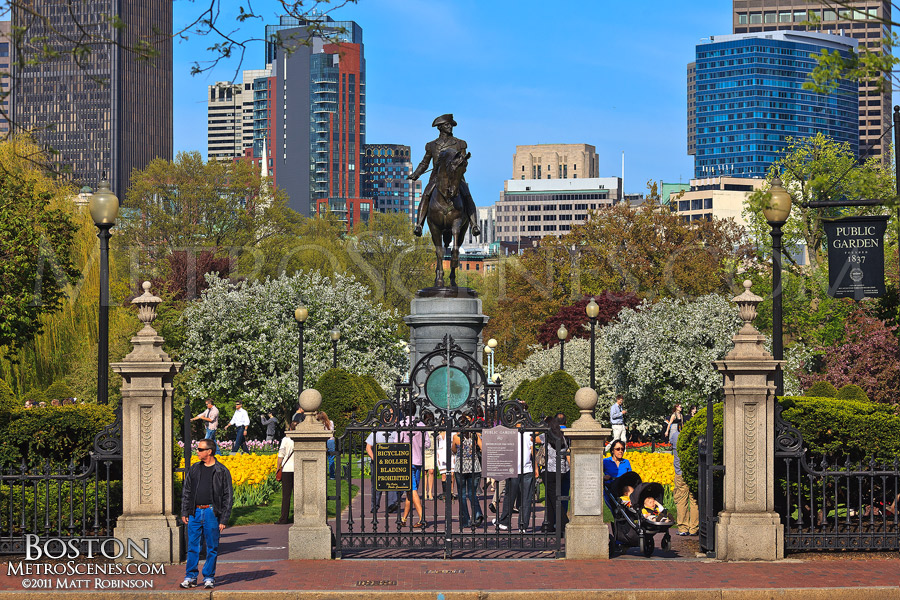 Public Gardens entrance during the spring