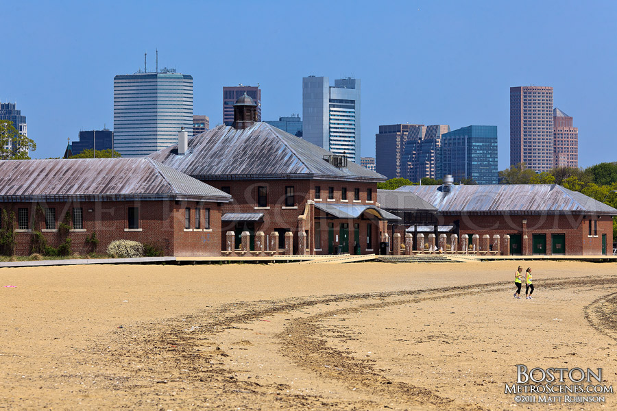 Carson Beach with Boston skyline