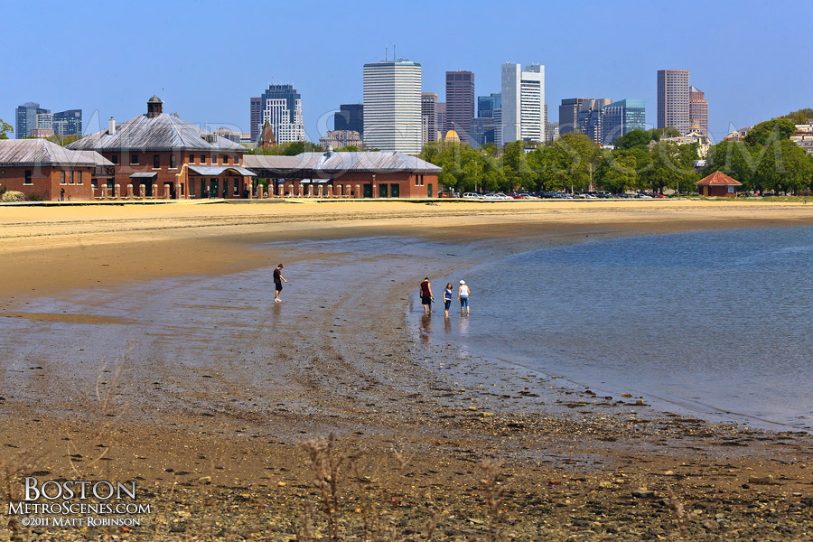 Carson Beach shore in South Boston, Old Harbor