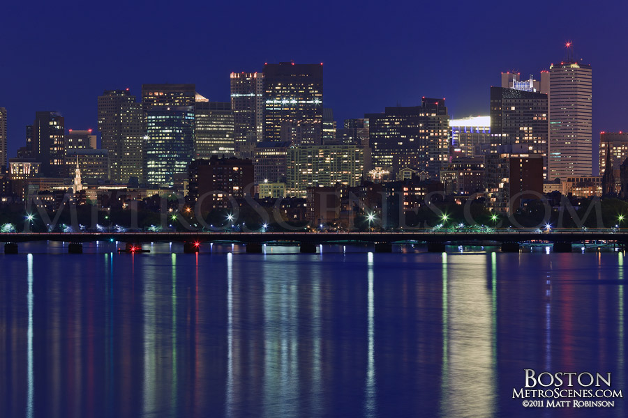 Skyline of Boston over the Charles River