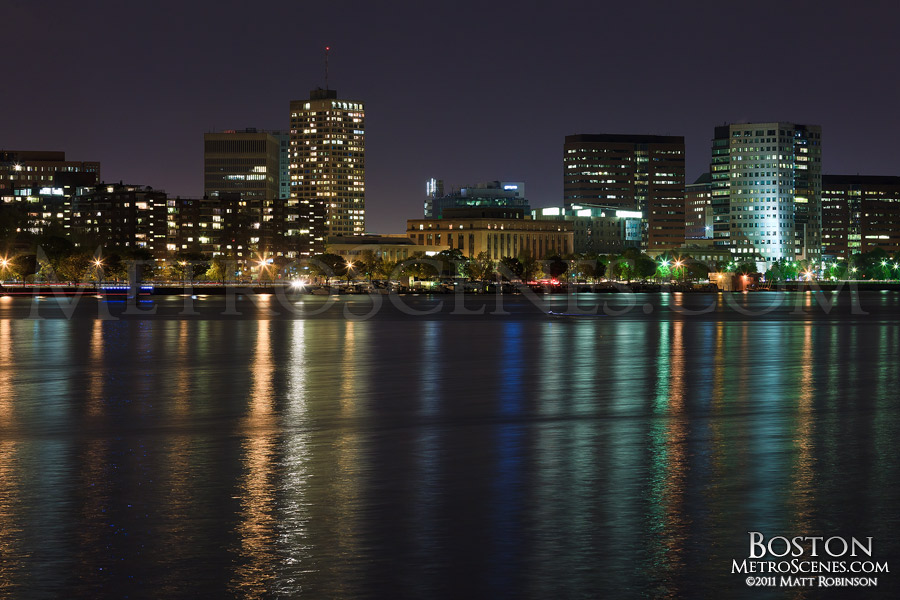Cambridge, Massachusetts skyline at night