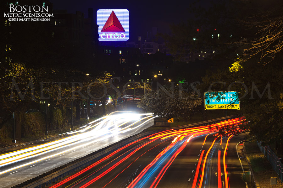 Citgo Sign and Storrow Drive in Boston