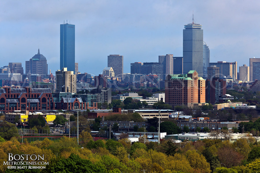 Boston Skyline from Mt. Auburn Cemetery