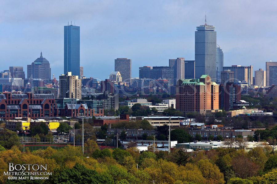 Boston Skyline from Mt. Auburn Cemetery