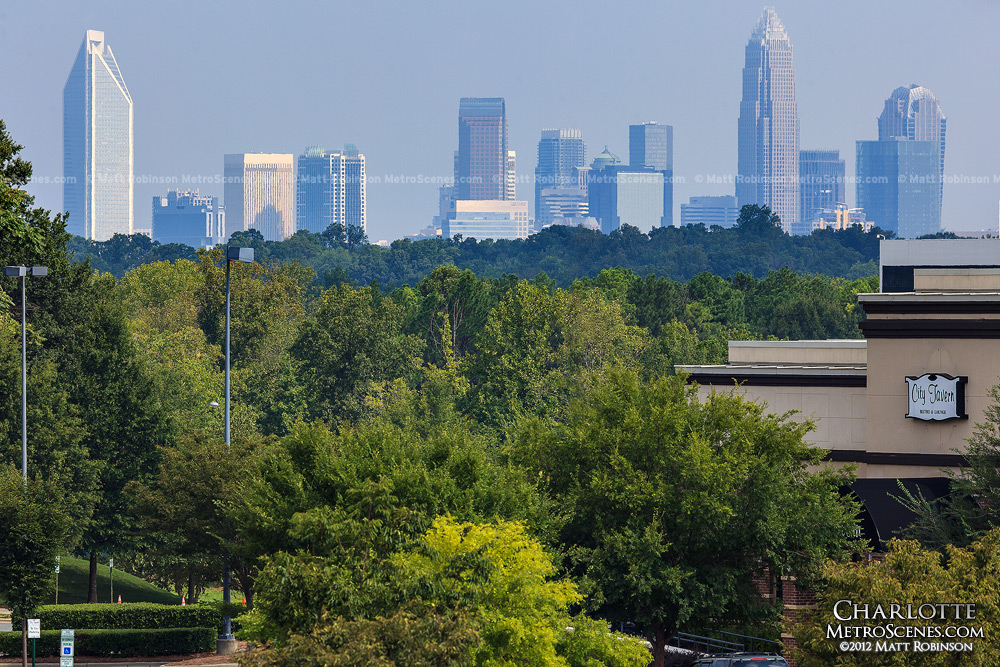 Charlotte Skyline from South Park - August 2012
