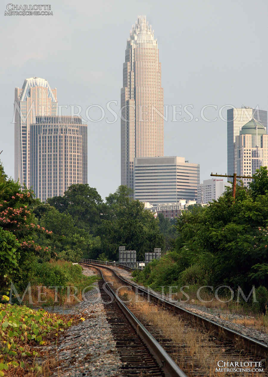 Charlotte railroad tracks.