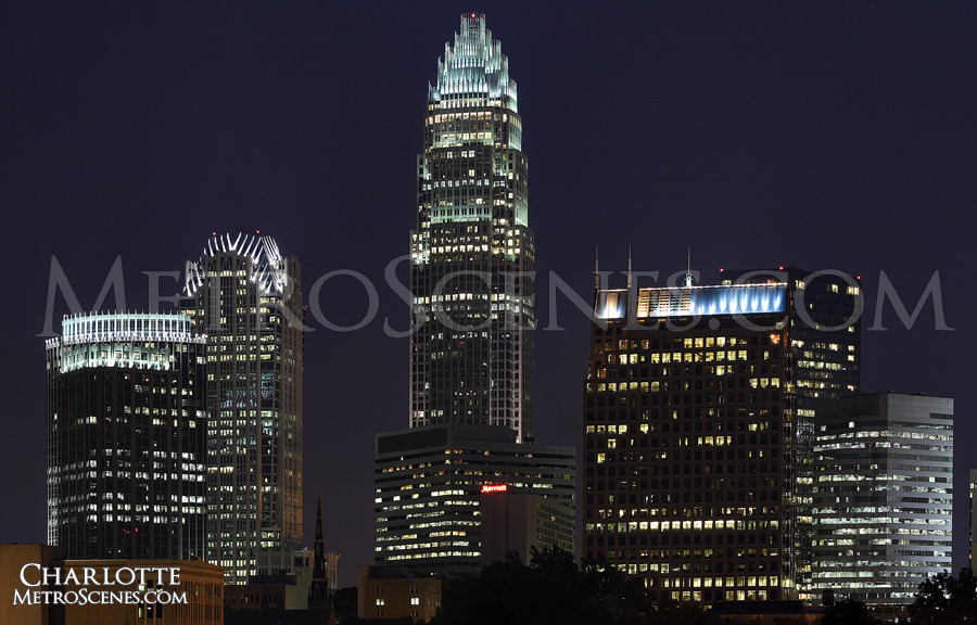 Charlotte NC at night