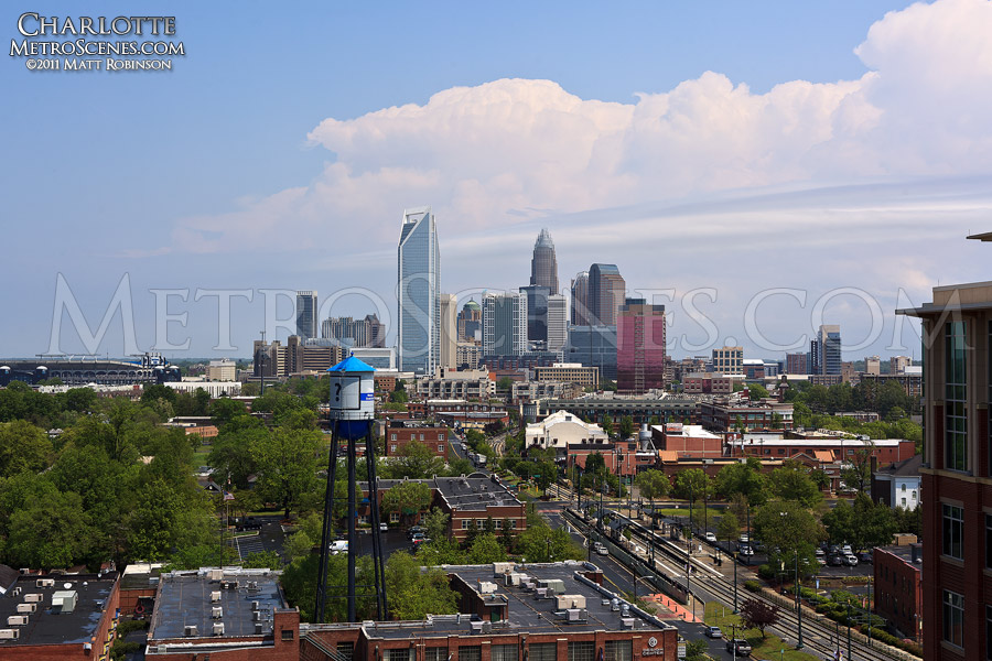 Charlotte Skyline seen from the South End