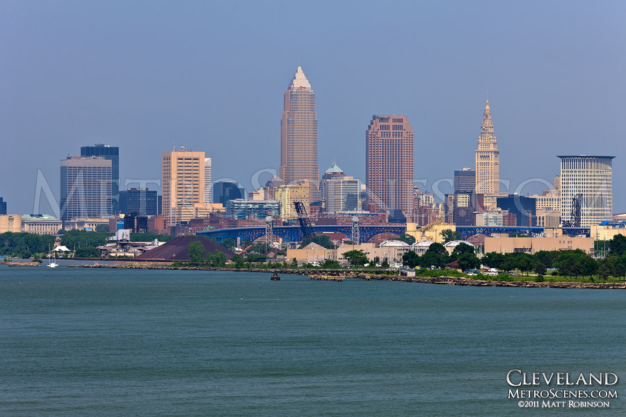 Cleveland, Ohio Skyline from Cliff Drive