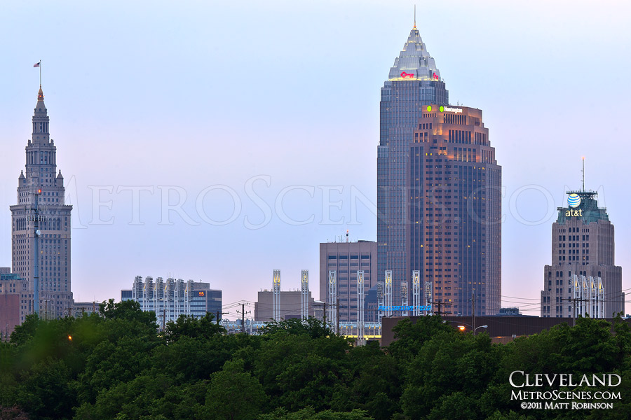 Cleveland Skyline from 34th Street