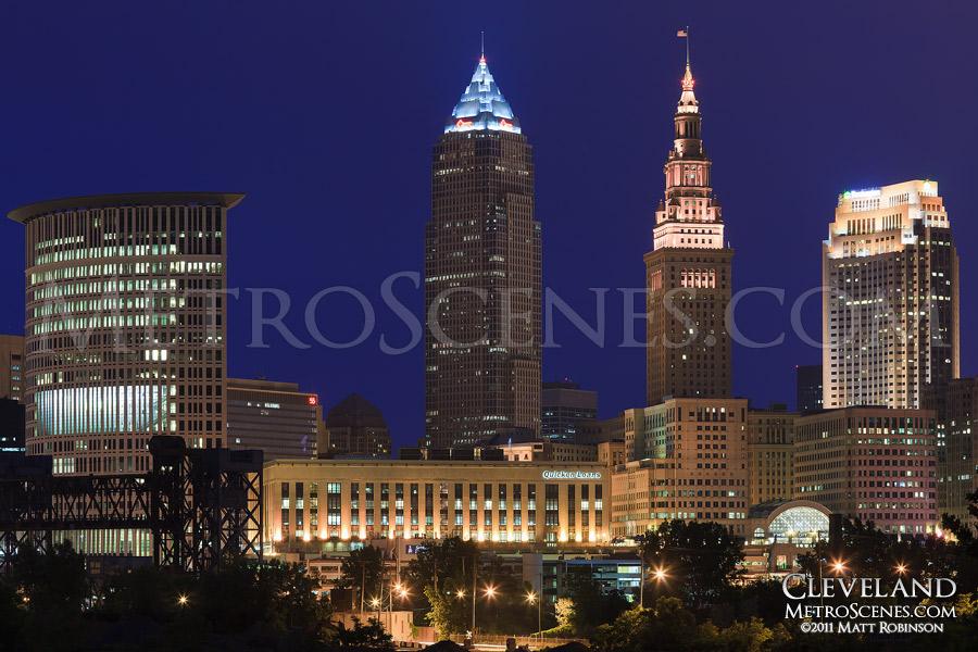 Cleveland, Ohio Skyline at Dusk