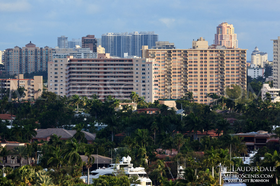 Towers and Palm trees from Port Everglades, Ft. Lauderdale