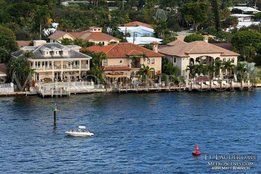 Mansion homes along Port Everglades, Fort Lauderdale