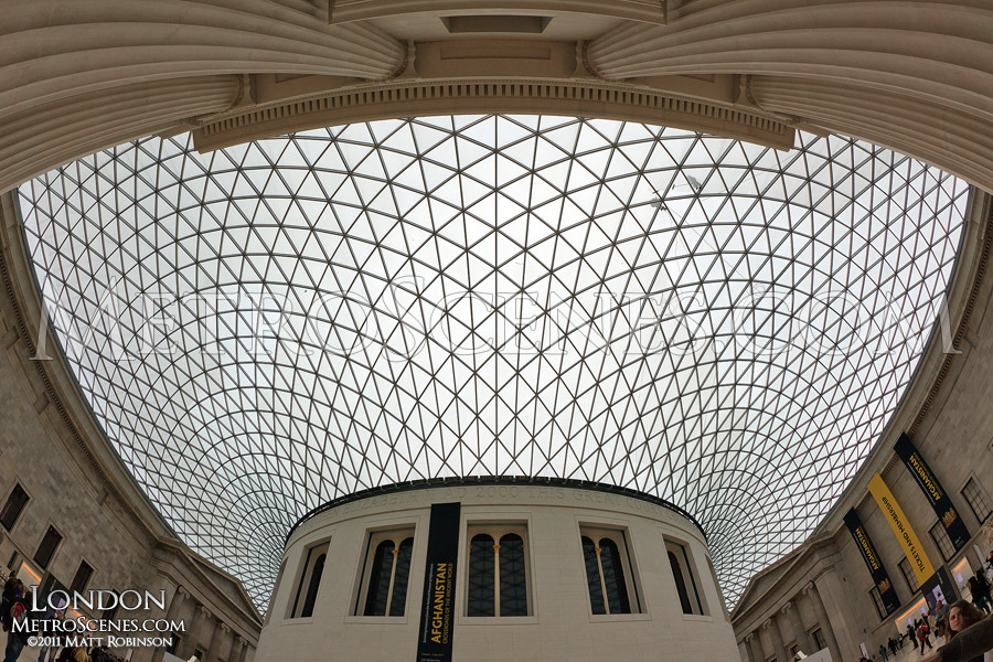 The roof of the Great Court, British Museum