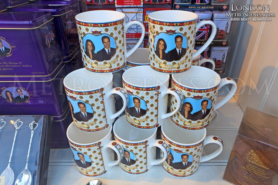 Tacky William and Kate mugs