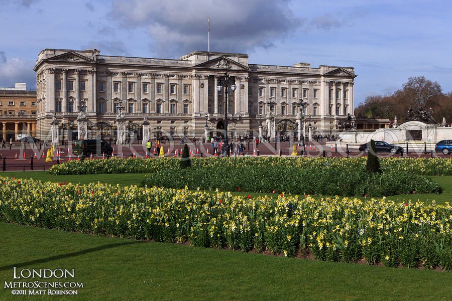 Buckingham Palace at springtime