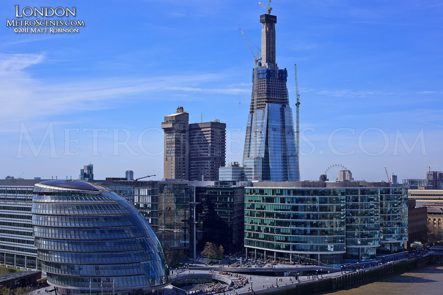 The Shard and London City Hall