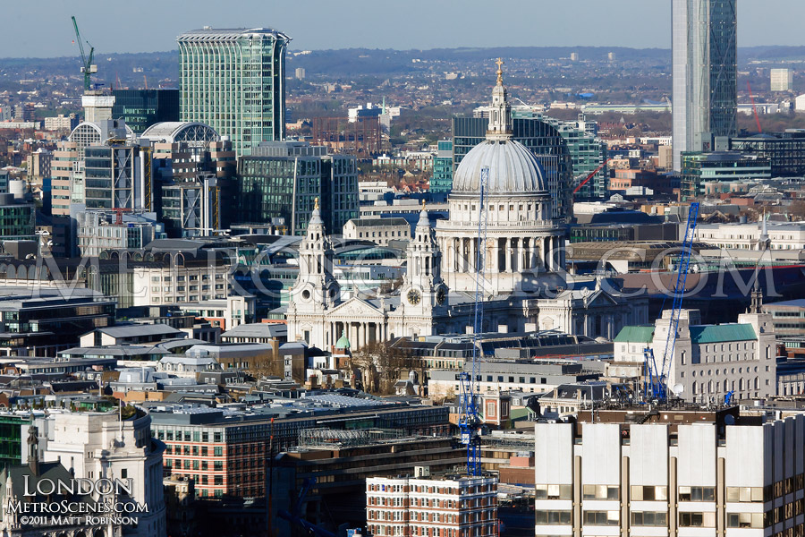 Aerial of St. Paul's Cathedral