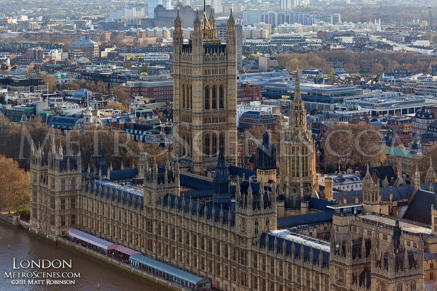 Victoria Tower from the London Eye