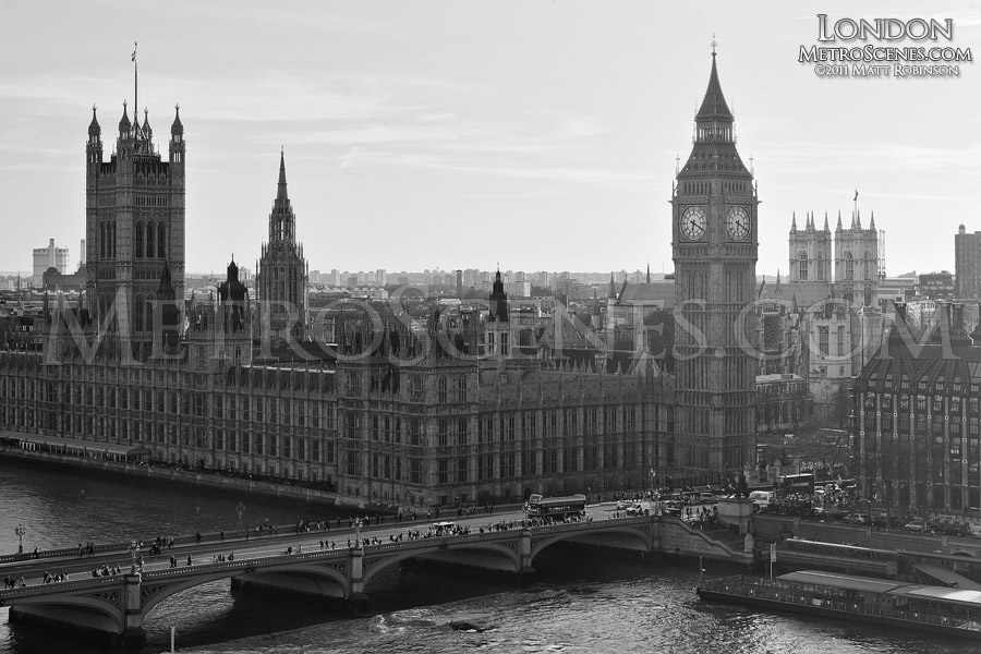 Black and White Palace of Westminster