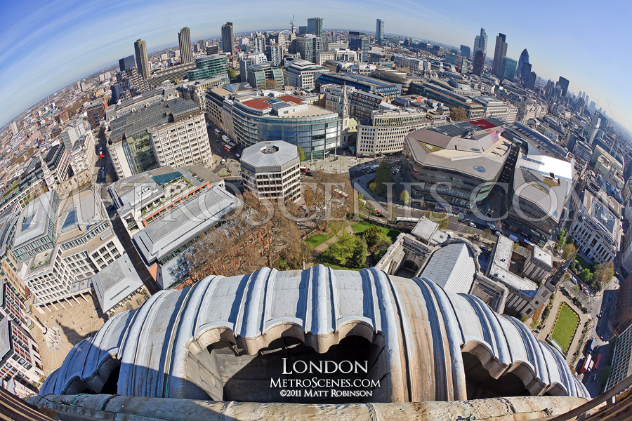 Fisheye over London from St. Paul's Cathedral