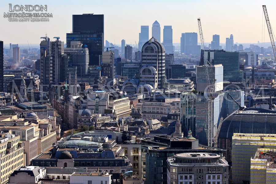 View of East London from St. Paul's Cathedral