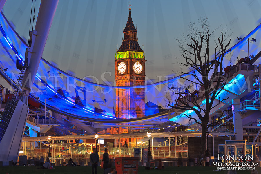 Big Ben seen through the London Eye