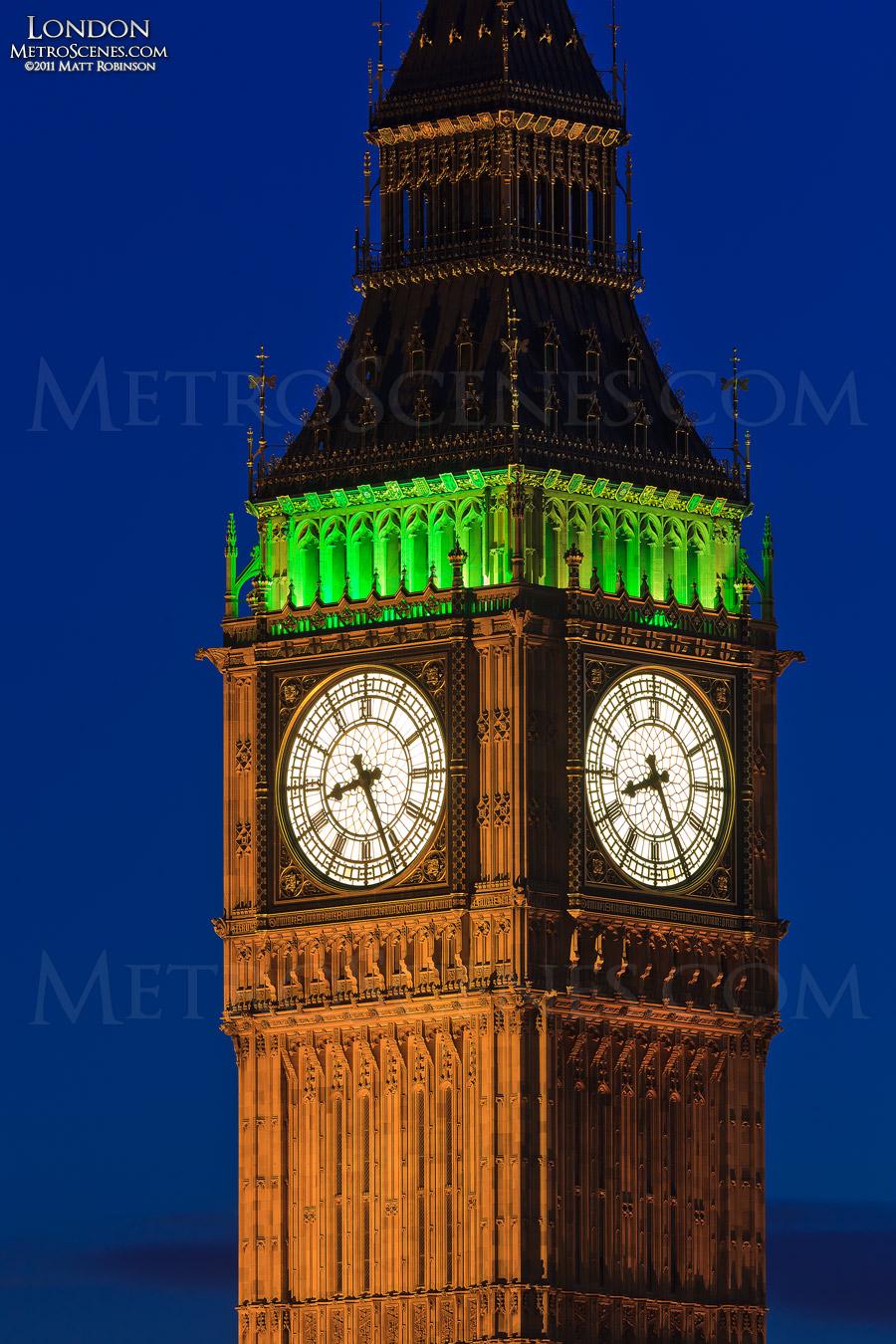 Detail of the Clock-face of Big Ben
