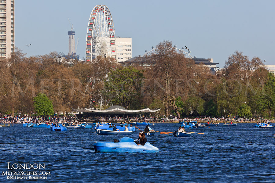 Paddle Boaters at The Serpentine in Hyde Park