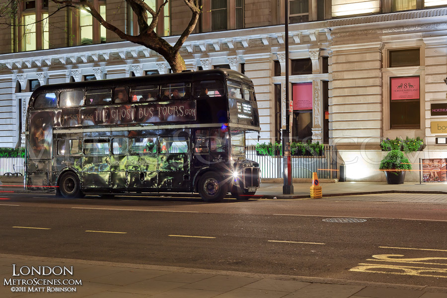 Black London Ghost Tour bus