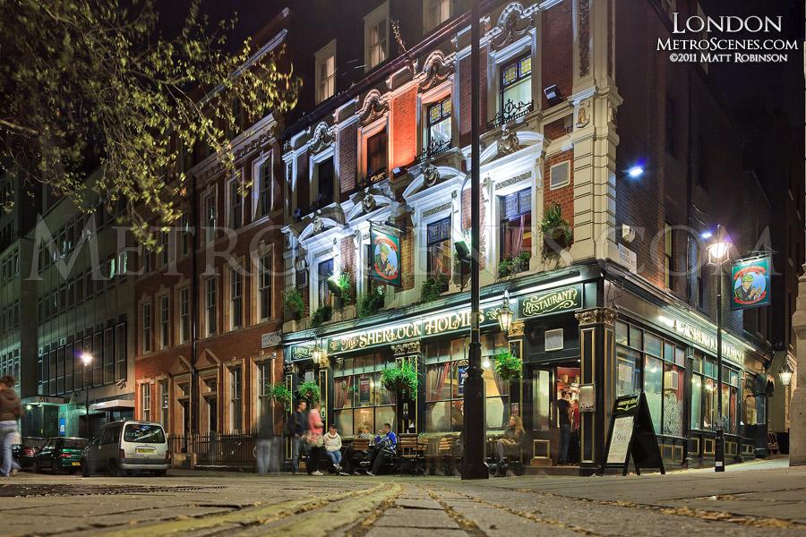 Sherlock Holmes Pub on Northumberland Street