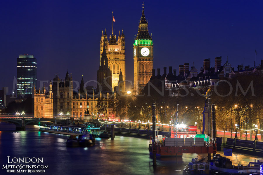Palace of Westminster and Victoria Embankment
