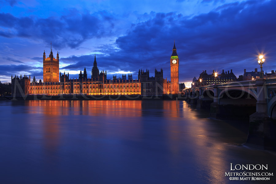 Palace of Westminster in the Evening