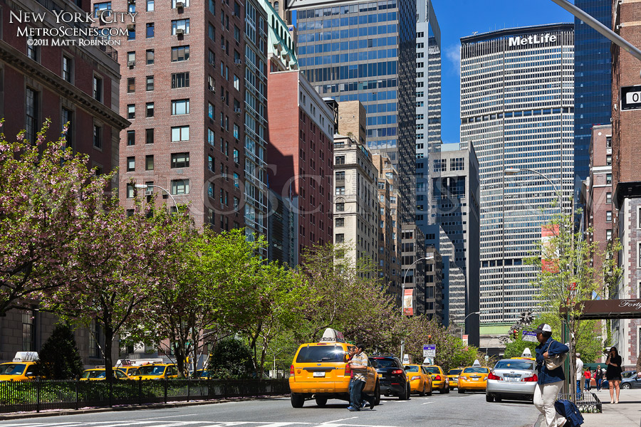 New York City Park Avenue in the spring