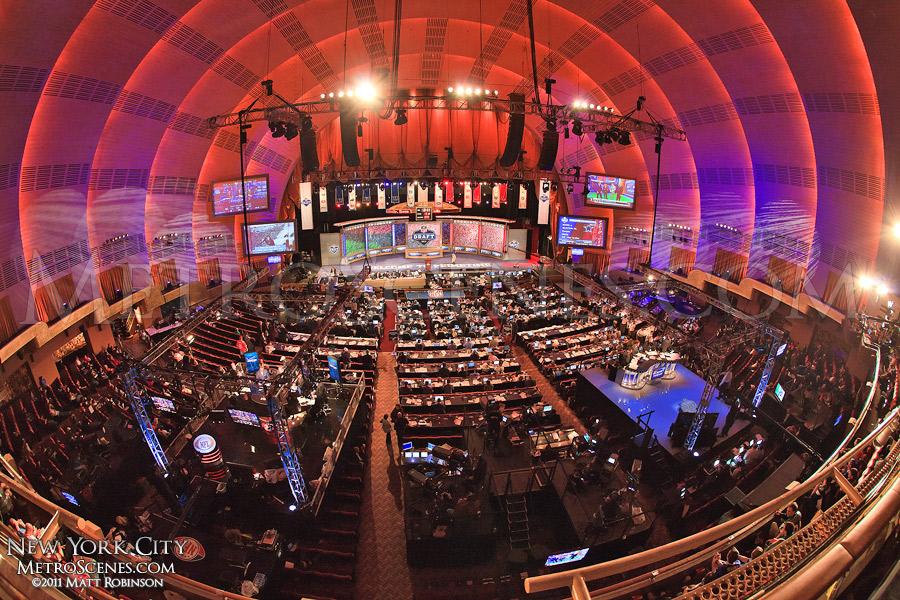 Radio City Music Hall during the NFL Draft