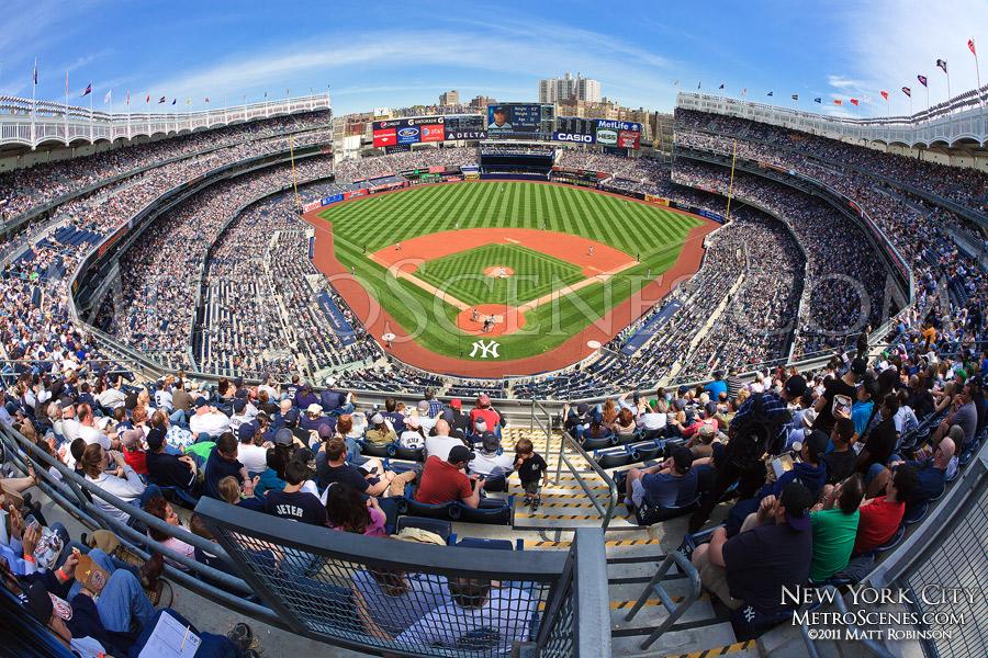 Fisheye of the New Yankee Stadium