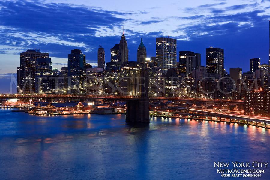 New York City skyline from the Manhattan Bridge