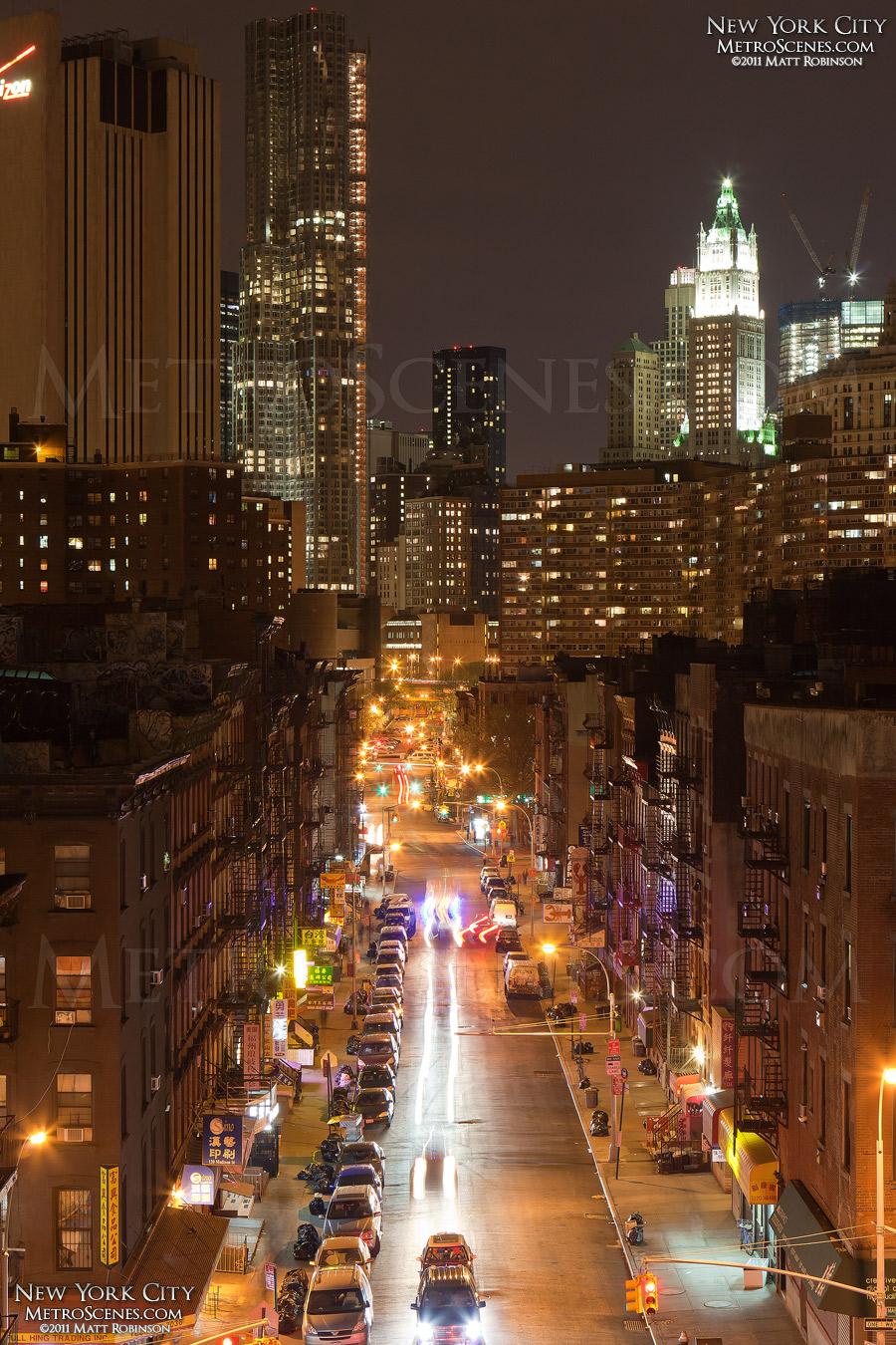 Madison Street from the Manhattan Bridge