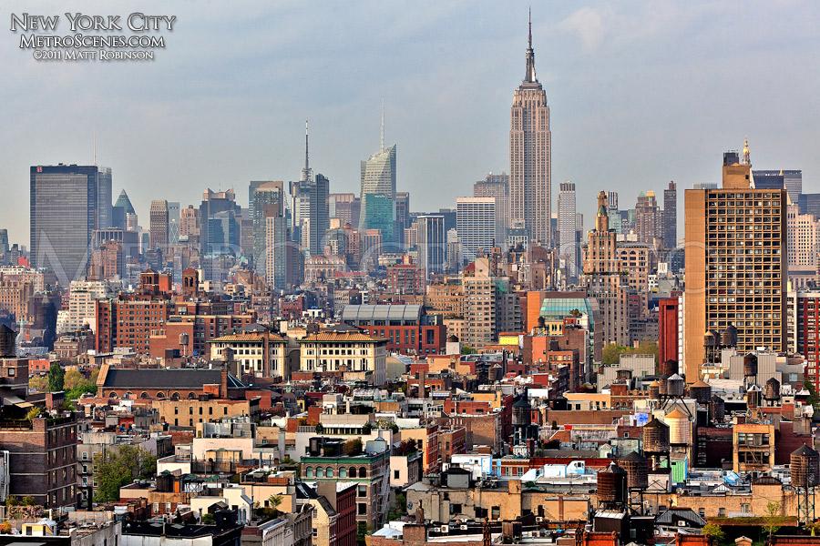 Midtown Manhattan Skyline from Soho