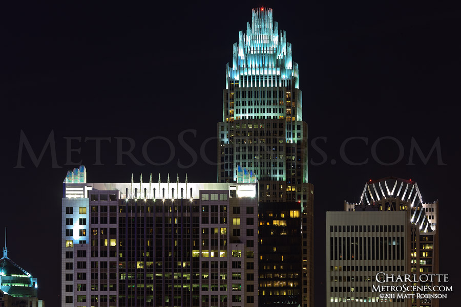 Bank of America building at night