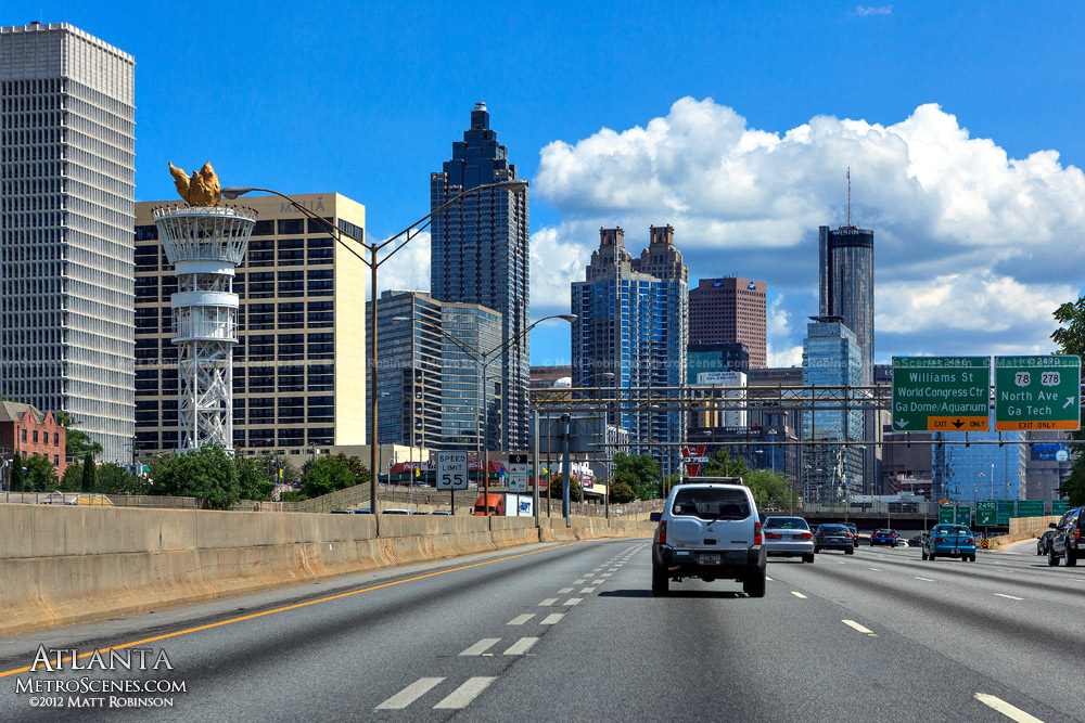 Downtown Atlanta from Interstate 85