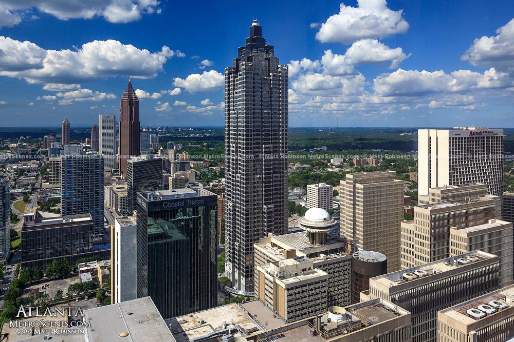 Downtown Atlanta from the Westin Peachtree Plaza