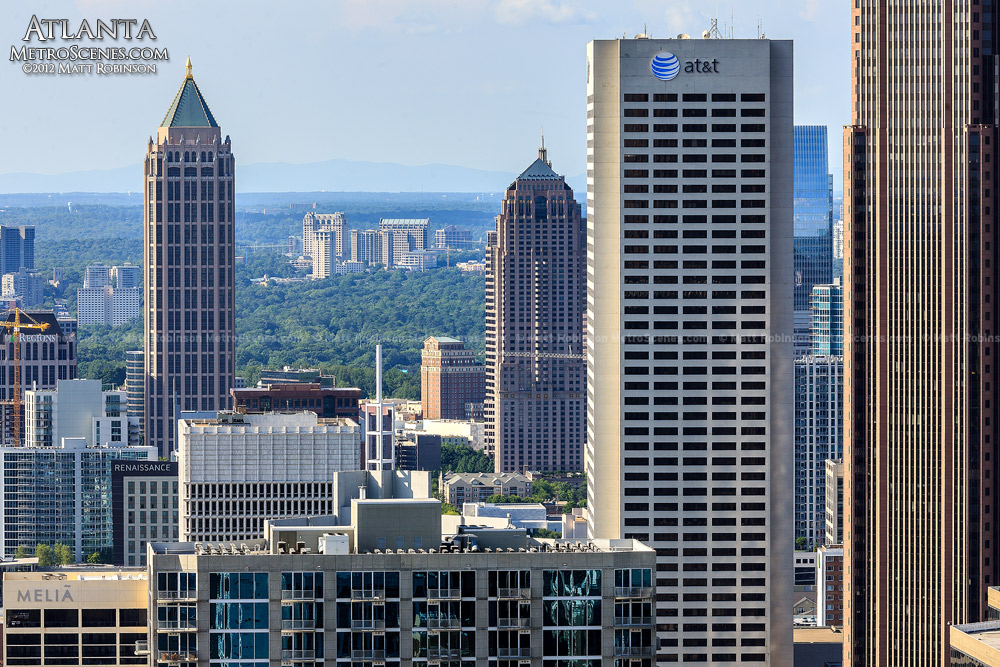Midtown Atlanta with One Atlantic Center and AT&T Building