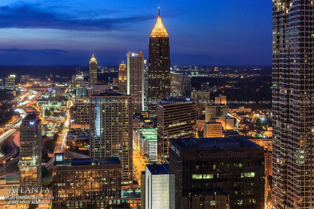 Atlanta Georgia Skyline at Night