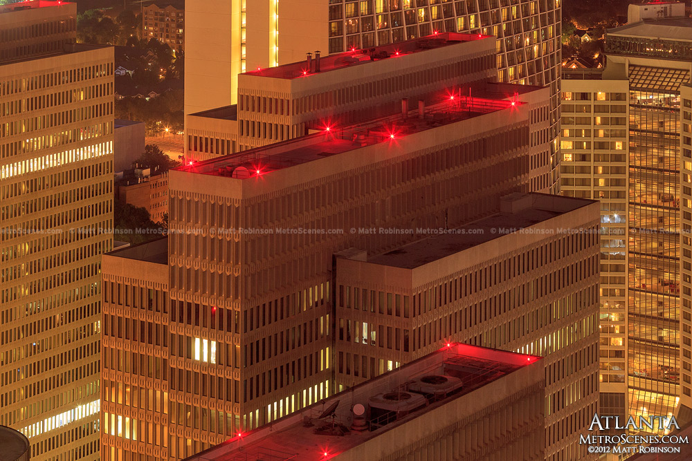 Peachtree Plaza Aircraft beacons