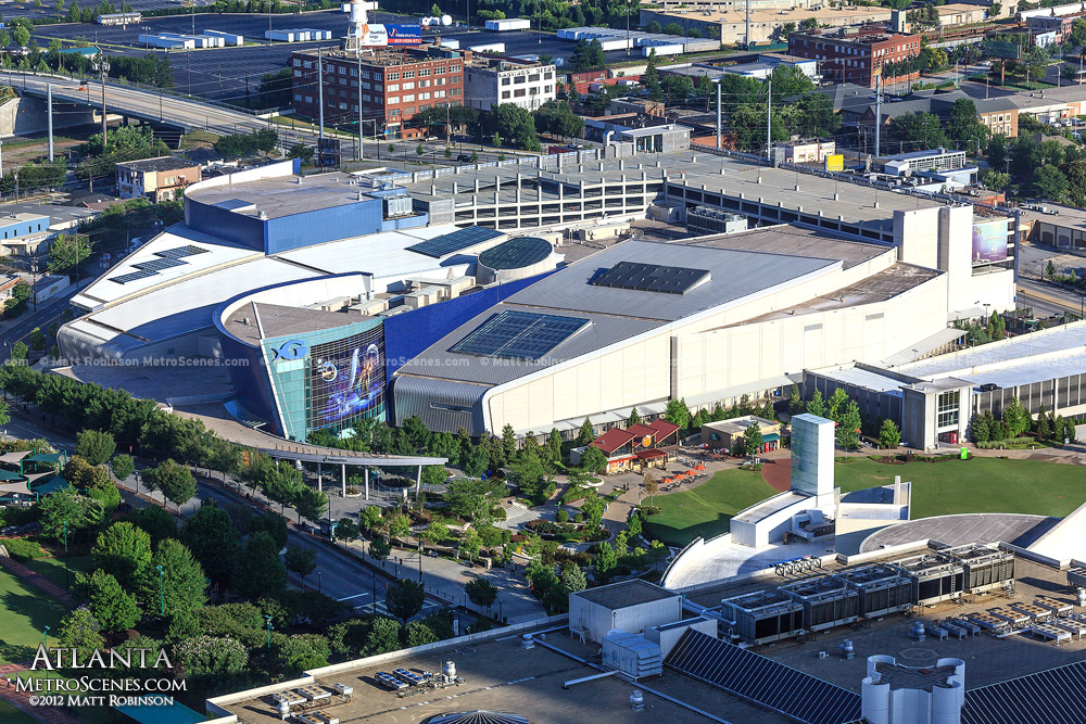 Aerial of Georgia Aquarium
